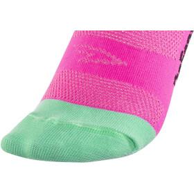 "DeFeet Aireator 5"" Double Cuff Socks, d-logo/neon pink"